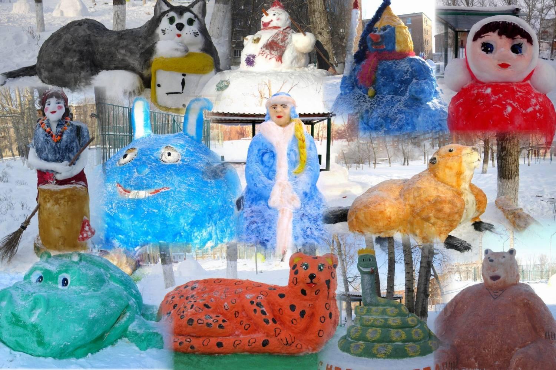 Снежный городок в школе своими руками